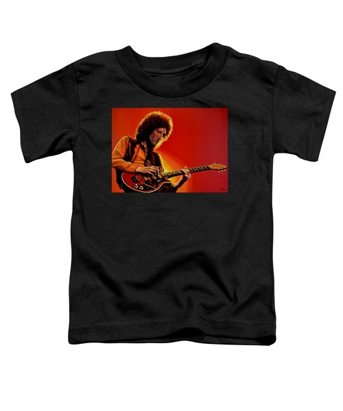 Brian May Of Queen Painting Toddler T-Shirt by Paul Meijering