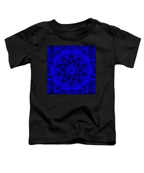 Toddler T-Shirt featuring the digital art Brigadoon No. 1 Neon Blue by Joy McKenzie