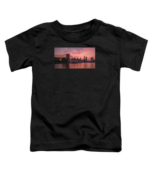 Brooklyn Bridge Sunset Toddler T-Shirt