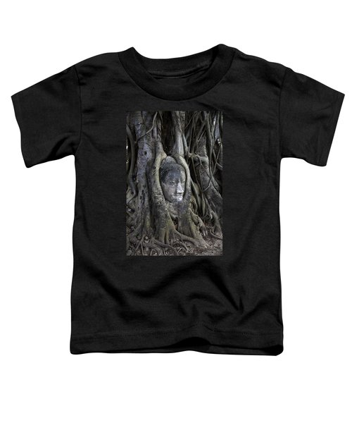 Buddha Head In Tree Toddler T-Shirt