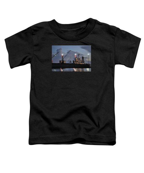 Bulk Cargo Carrier Loading At Dusk Toddler T-Shirt