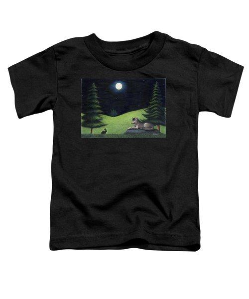 Bunny Visits Wolf Toddler T-Shirt