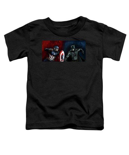 Captain America Vs Batman Toddler T-Shirt