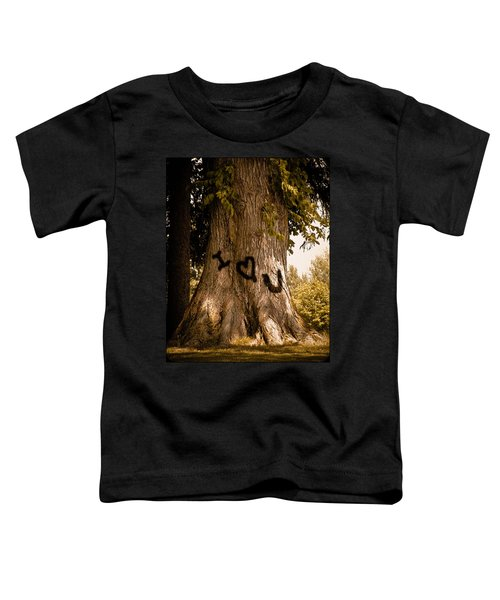 Carve I Love You In That Big White Oak Toddler T-Shirt