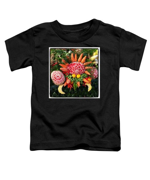 Toddler T-Shirt featuring the photograph Carved Watermelon, And I Think Those by Mr Photojimsf