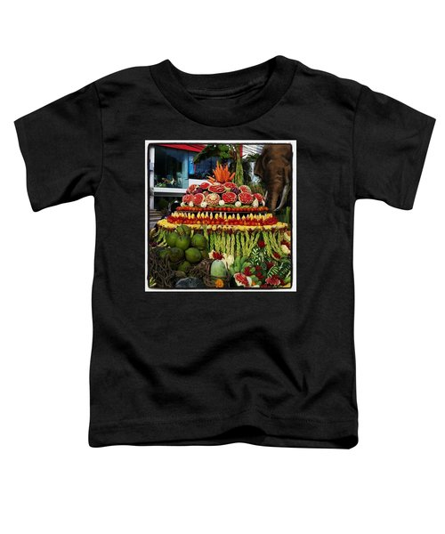 Toddler T-Shirt featuring the photograph Carved Watermelon, Surin Elephant by Mr Photojimsf