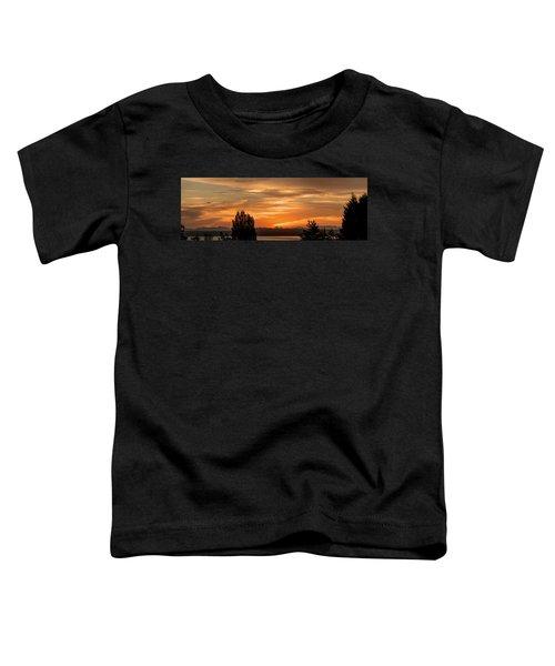 Cascade Mountains - Sunrise Panorama Toddler T-Shirt