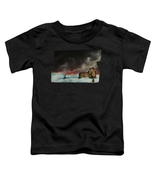 Castle In The Clouds Toddler T-Shirt by Terry Fleckney