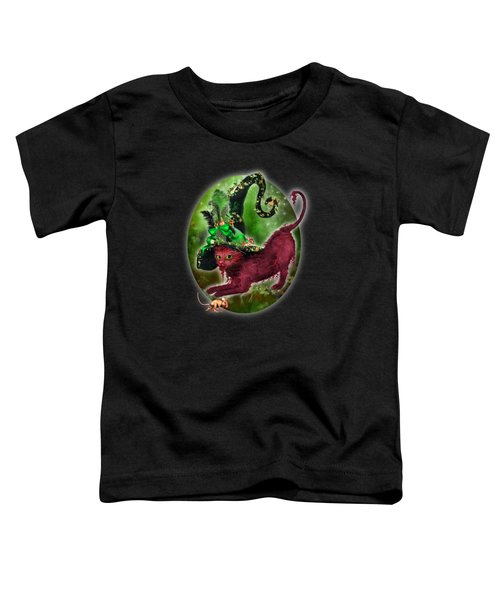 Cat In Fancy Witch Hat 2 Toddler T-Shirt