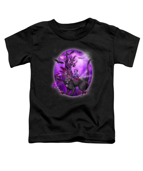 Cat In Goth Witch Hat Toddler T-Shirt