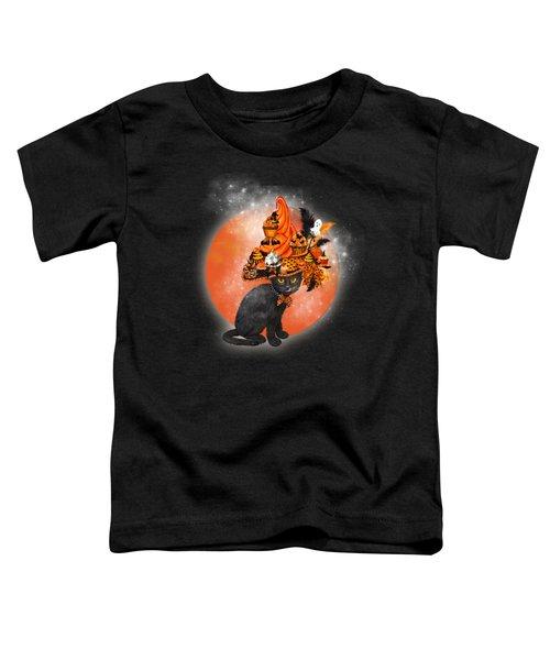 Cat In Halloween Cupcake Hat Toddler T-Shirt