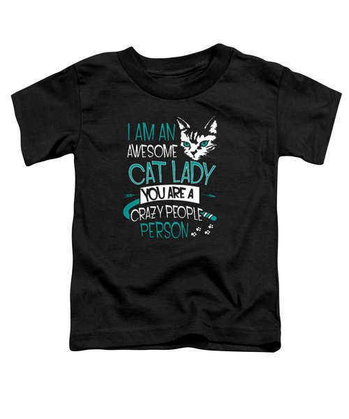 Cat Lady Toddler T-Shirt by Jackie Robinson