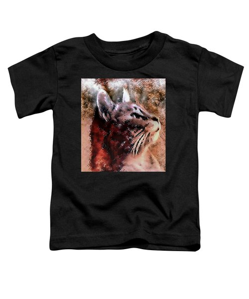 Cat Watching Falling Rain Toddler T-Shirt