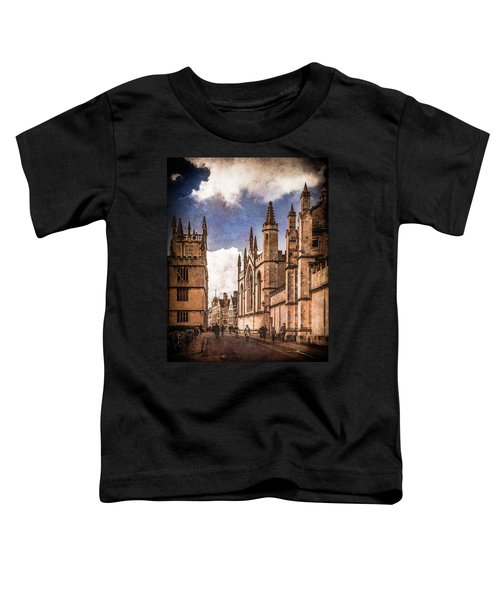 Oxford, England - Catte Street Toddler T-Shirt