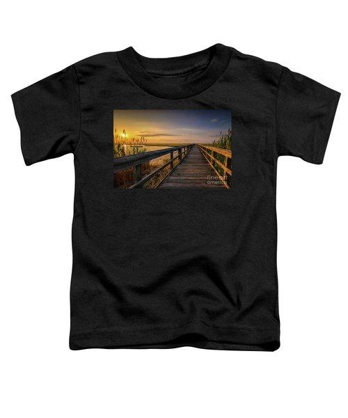 Cedar Beach Pier, Long Island New York Toddler T-Shirt