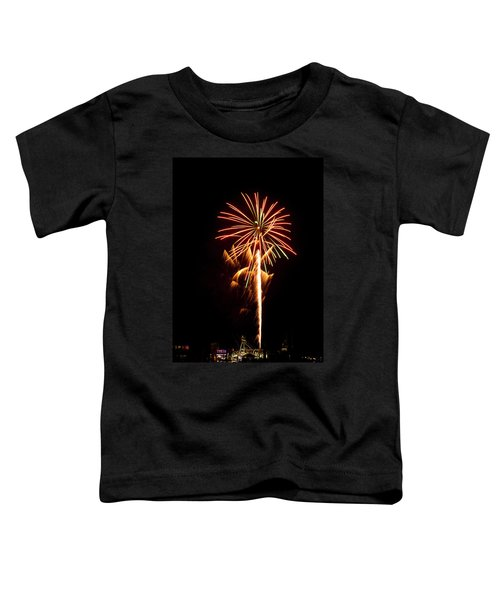 Toddler T-Shirt featuring the photograph Celebration Fireworks by Bill Barber