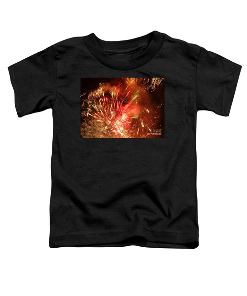 Celebratory Fireworks And Firecrackers Light Up The Sky Toddler T-Shirt