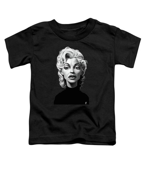 Celebrity Sunday - Marilyn Monroe Toddler T-Shirt by Rob Snow