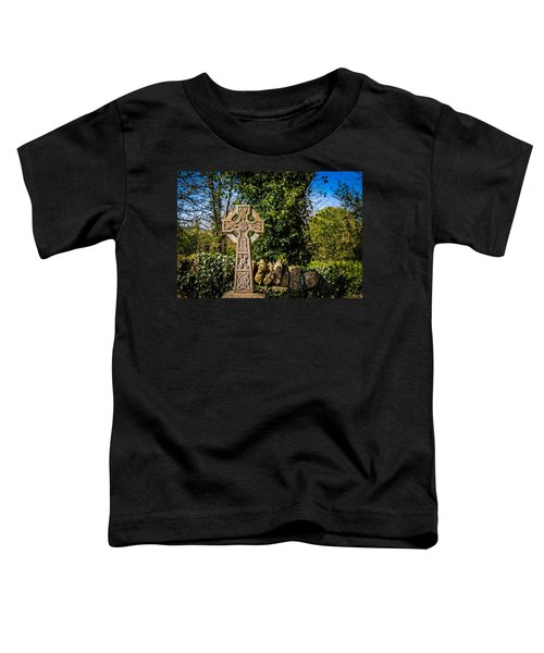 Toddler T-Shirt featuring the photograph Celtic Knots Decorate A Celtic Cross by James Truett