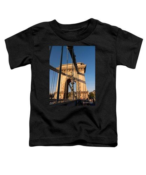 Chain Bridge Budapest  Toddler T-Shirt