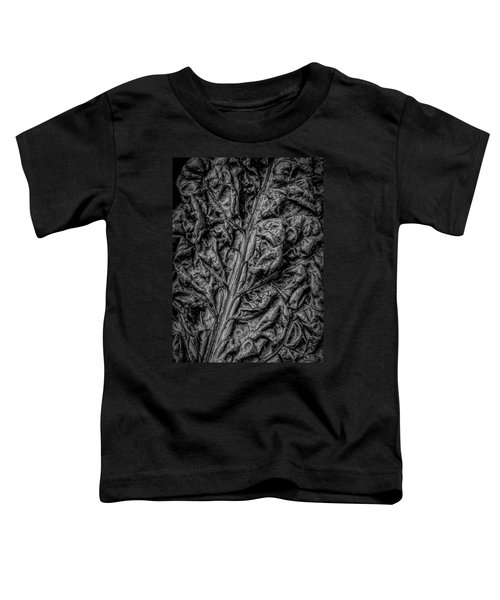 Chard Leaf In Black And White Toddler T-Shirt