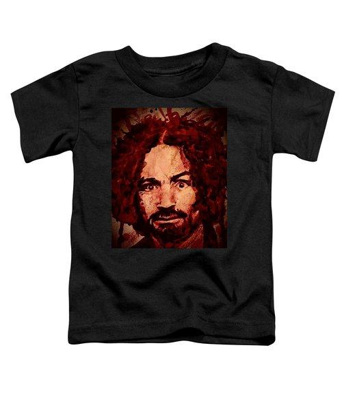Charles Manson Portrait Fresh Blood Toddler T-Shirt