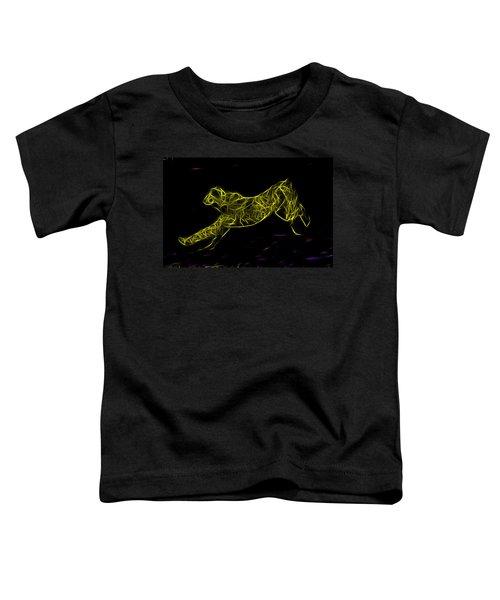 Cheetah Body Built For Speed Toddler T-Shirt by Miroslava Jurcik