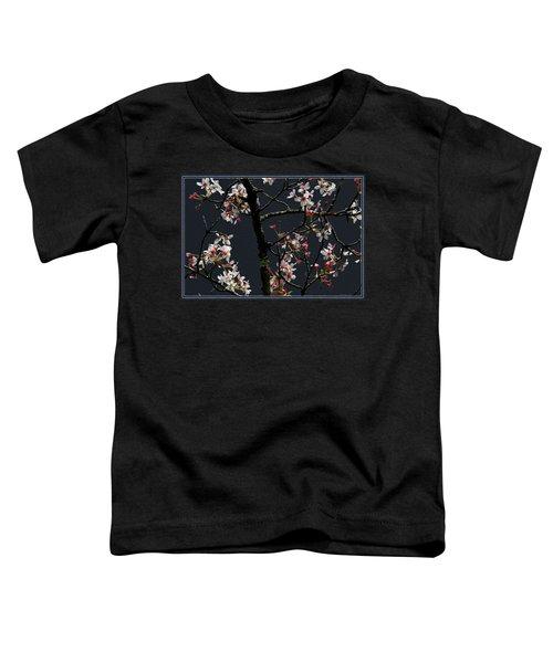 Cherry Blossoms On Dark Bkgrd Toddler T-Shirt