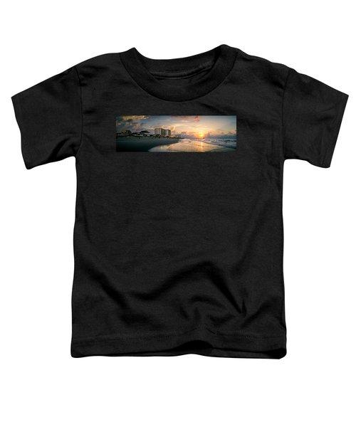 Cherry Grove Panoramic Sunrise Toddler T-Shirt