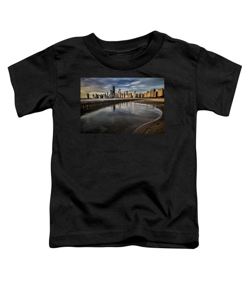 Chicago Beach And Skyline With A Person For Scale Toddler T-Shirt