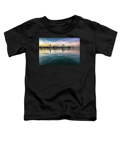 Chicago Skyline And Fish At Dusk Toddler T-Shirt