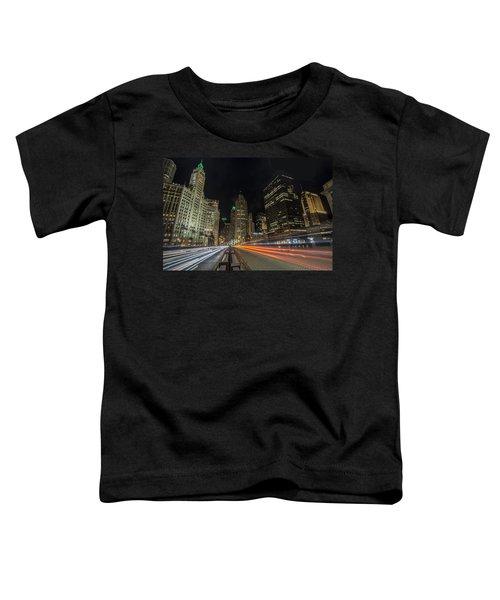 Chicago's Mag Mile Night Streaks Toddler T-Shirt