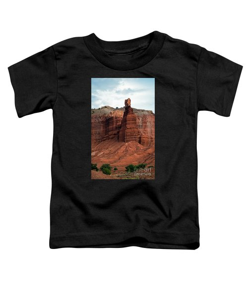 Chimney Rock In Capital Reef Toddler T-Shirt