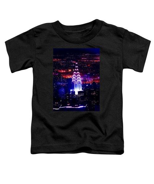 Chrysler Building At Night Toddler T-Shirt by Az Jackson