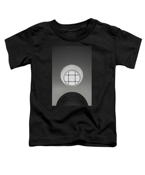 Church Window In Black And White Toddler T-Shirt