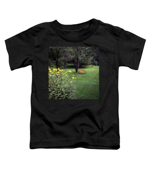 Churchyard Bench - Woodstock, Vermont Toddler T-Shirt