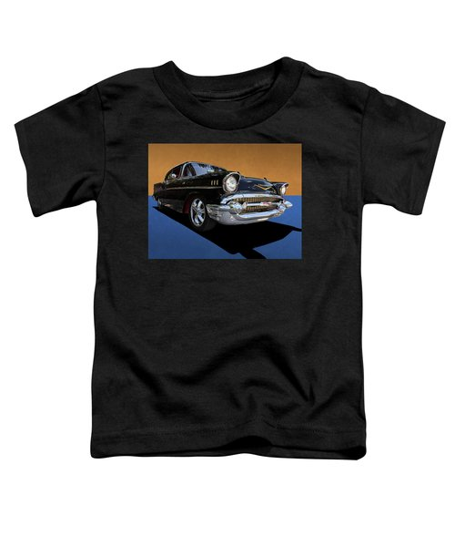 Classic Black Chevy Bel Air With Gold Trim Toddler T-Shirt