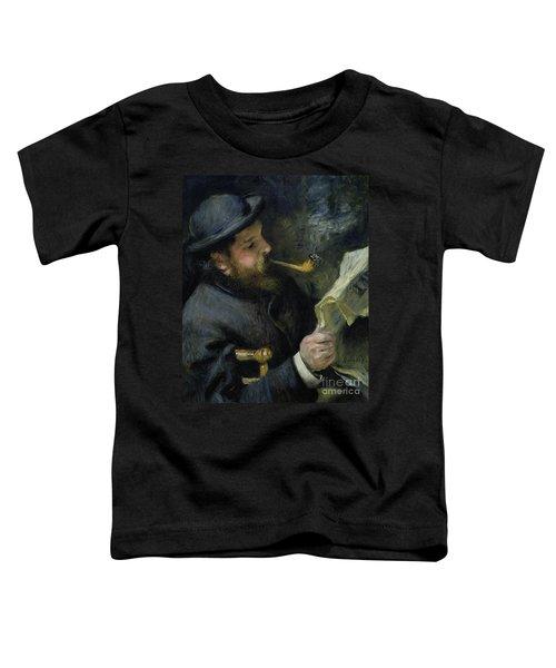 Claude Monet Reading A Newspaper Toddler T-Shirt
