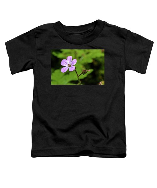 Close Up Of Shining Cranesbill A Toddler T-Shirt