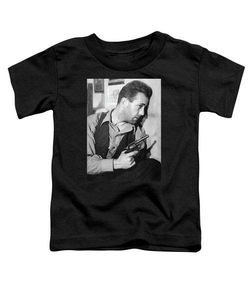 Close-up Up Of Humphrey Bogart As Duke Mantee With Gun The Petrified Forest 1936 Toddler T-Shirt