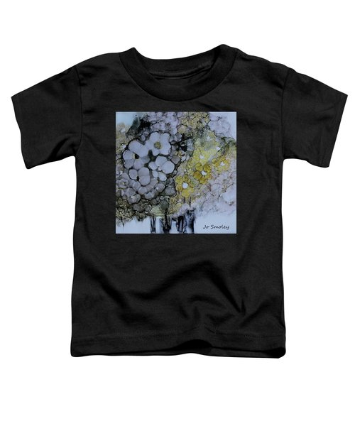 Toddler T-Shirt featuring the painting Cloudy With A Chance Of Sunshine by Joanne Smoley