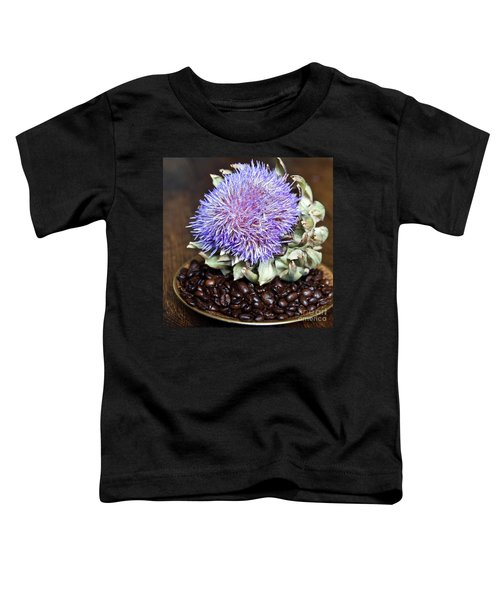 Coffee Beans And Blue Artichoke Toddler T-Shirt