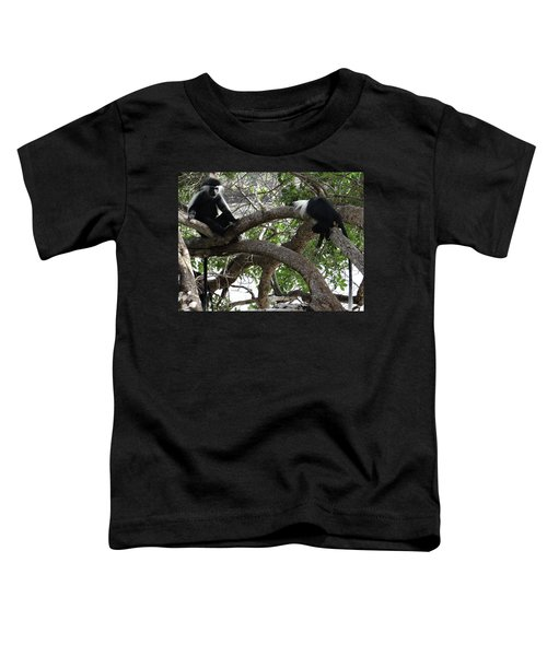 Colobus Monkeys Sitting In A Tree Toddler T-Shirt