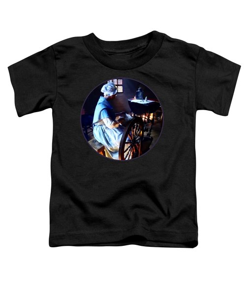 Colonial Woman Spinning Toddler T-Shirt