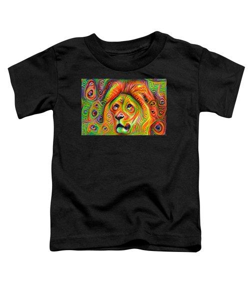 Colorful Crazy Lion Deep Dream Toddler T-Shirt