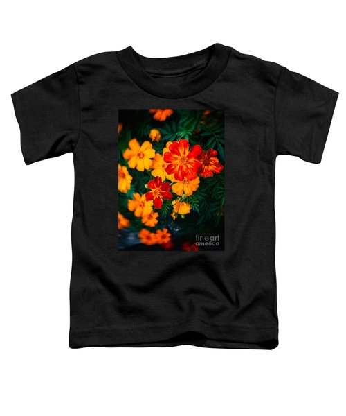 Toddler T-Shirt featuring the photograph Colorful Flowers by Silvia Ganora