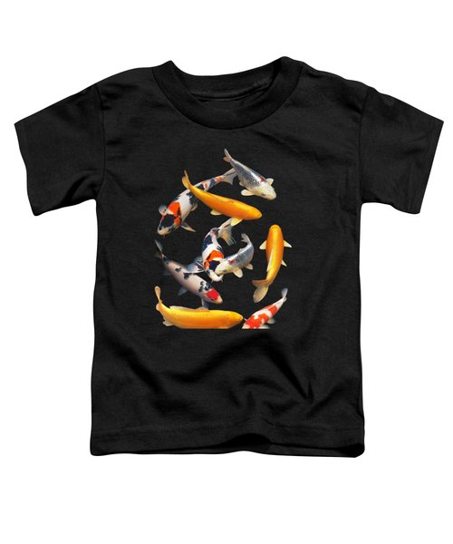 Colorful Japanese Koi Vertical Toddler T-Shirt by Gill Billington