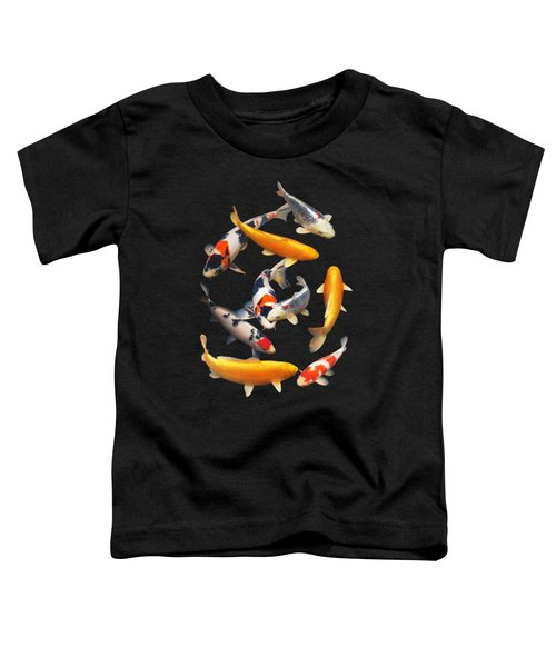 Colorful Japanese Koi Vertical Toddler T-Shirt