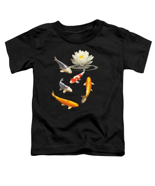 Colorful Koi With Water Lily Toddler T-Shirt