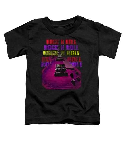 Toddler T-Shirt featuring the photograph Colorful Music Rock N Roll Guitar Retro Distressed T-shirt by Guitar Wacky